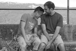 male couple having fun together