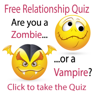 emoji symbols for a zombie and a vampire